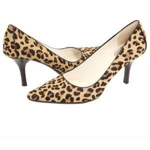 Calvin Klein Leopard Haircalf Platform Pumps Sz7M